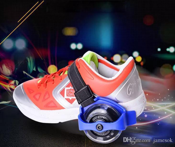 Kinder Roller Kinder Sport Riemenscheibe beleuchtet blinkende Roller Räder Ferse Skate Rollen Skates Räder Schuh Skate Roller c197