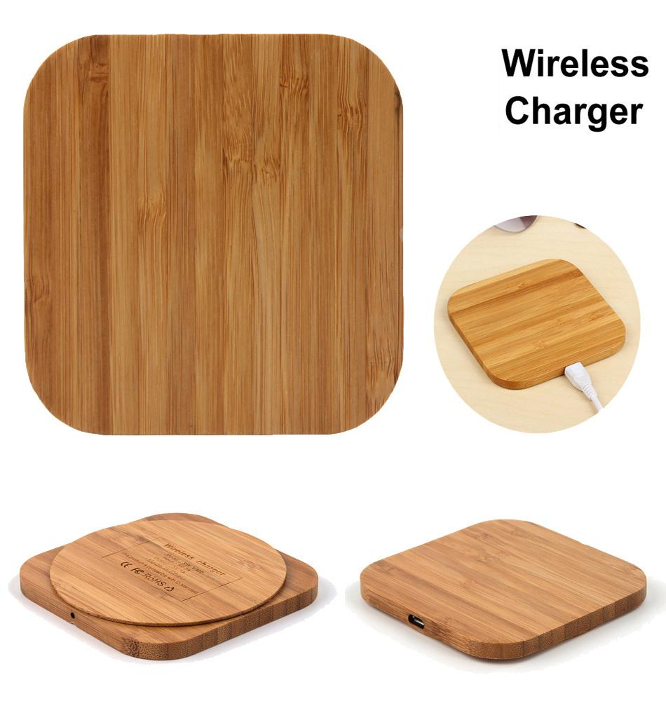 Wireless Charger Slim Wood Pad Charging Mat For Samsung Galaxy Note 9 iphone wireless charger mobile phone charger charging