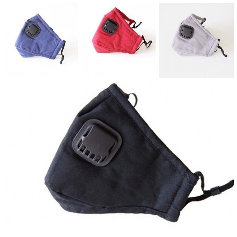 Las máscaras a prueba de polvo boca con máscara de respiración Válvula PM2.5 adulto Cara transpirable respiradores unisex de la buena calidad de 11 5zz H1