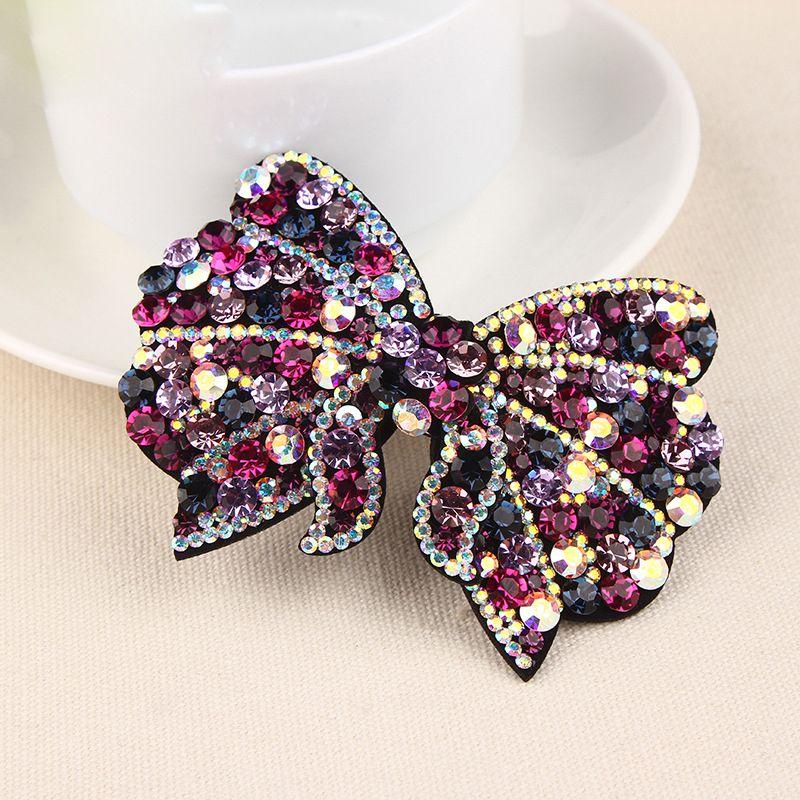 Новый корейский Простые клипы головной убор бабочки Rhinestone волос Barrettes девушки женщин Мода Headdress Полный Алмазные Аксессуары для волос