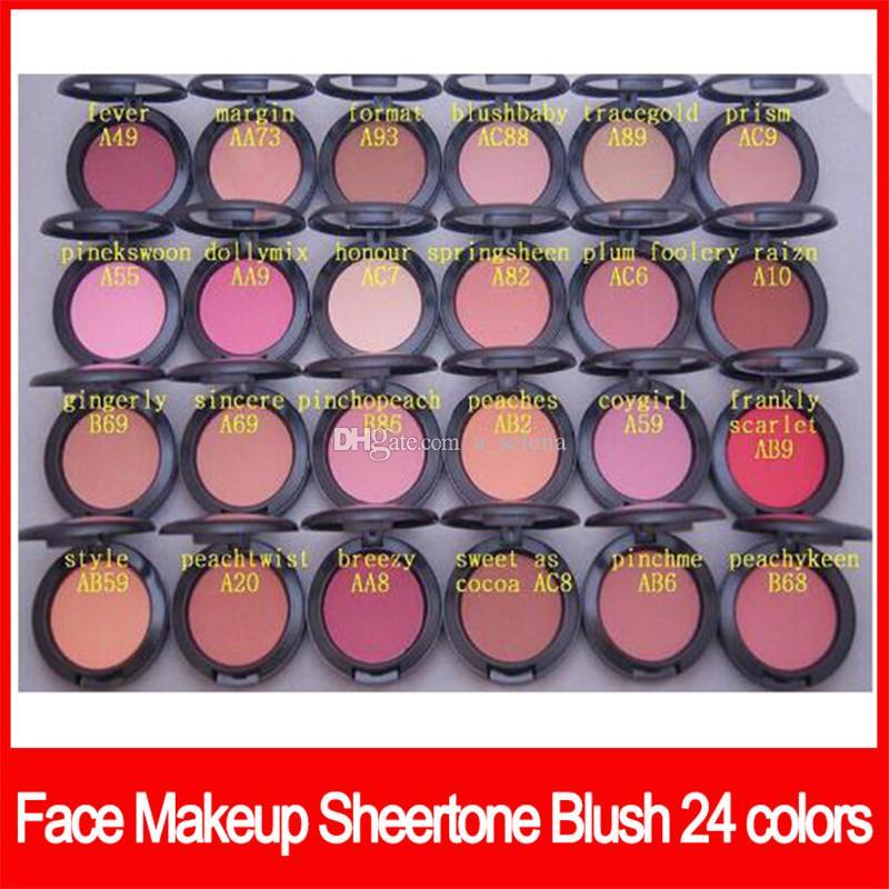 Maquillage célèbre visage Sheertone blush 24 couleurs palette fard à joues 6g pas pinceau poudre Shimmer fard à joues Livraison gratuite