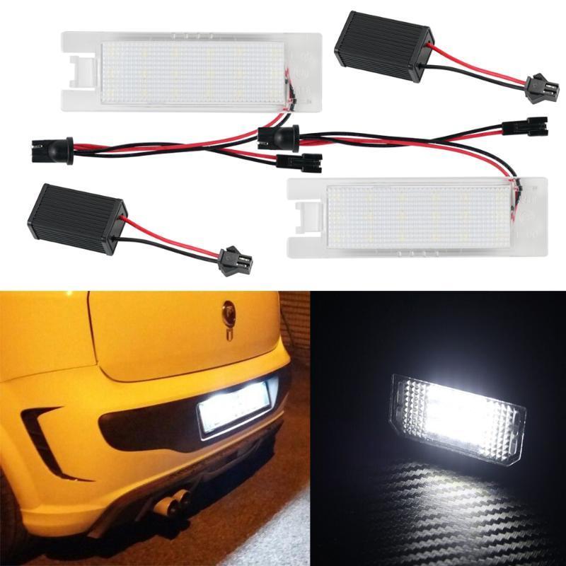 NICECNC 2ST Auto-LED-Lizenz Kennzeichenleuchte Für Brava Bravo Croma Linea Multipla Seicento 6500K weiße LED-Lampen