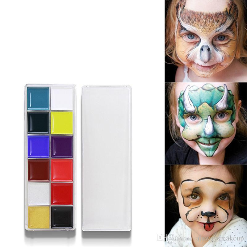 Hottest 12 colors Face Body Oil body Painting Festival makeup oil Waterproof Anti-sweat Art use Color paint