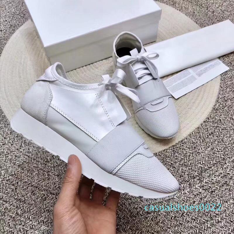 2018 Yeni Tasarımcı Sneaker Man Kadının Runner Ayakkabı Yüksek Kalite Düşük Kesim Nefes Mesh Sneaker Dış Mekan Günlük Ayakkabılar US5-11.5 C22