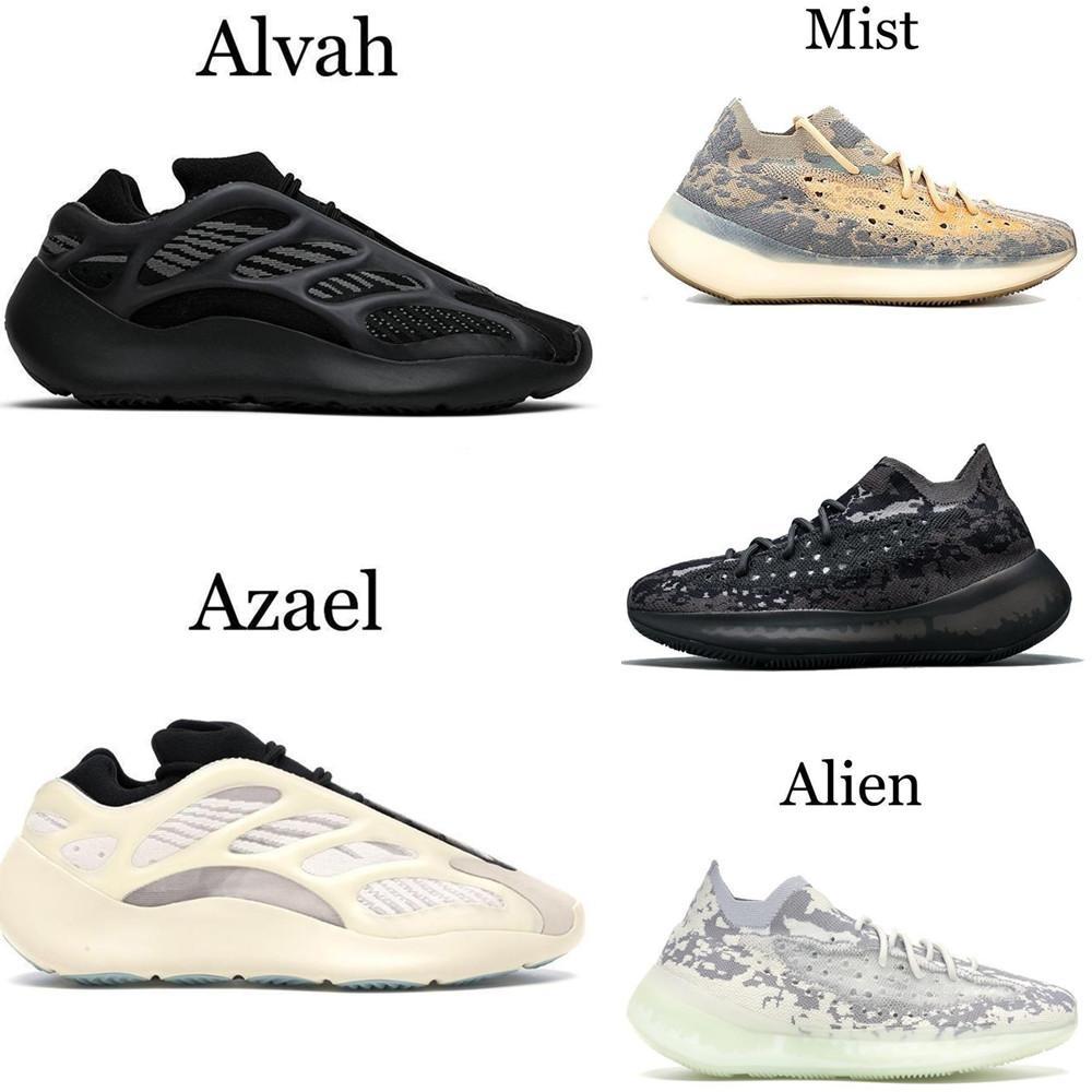 700 MNVN kanye que parte del oeste zapatos 700 V3 Alvah hombre extranjero Azael 3M 380 Mist zapatillas de deporte 36-46 EUR