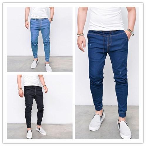 Atacado-novo 2019 calças masculinas slim lápis calças meninos calça jeans skinny calça casual calça jeans homens NZ11181