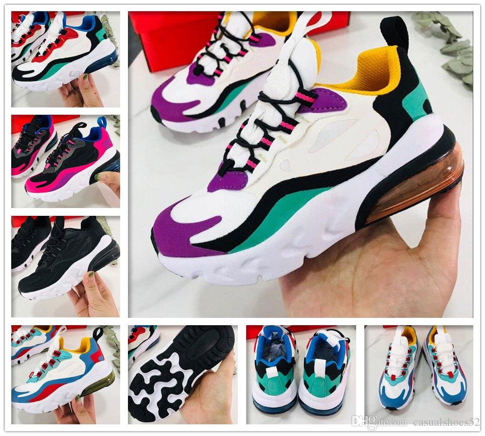 kids boy girl Bauhaus React big Women Men Running Shoes OPTICAL HYPER JADE PINK GREY ORANGE HUES cushion Mens Trainers Sports Sneakers