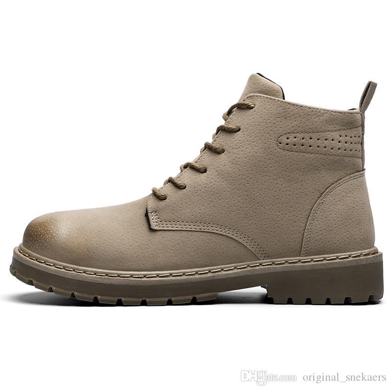 2019 bottes de luxe pour des bottes d'hiver pour hommes de qualité supérieure pour femmes militaire Triple Blanc Noir Taille Camo 36-45