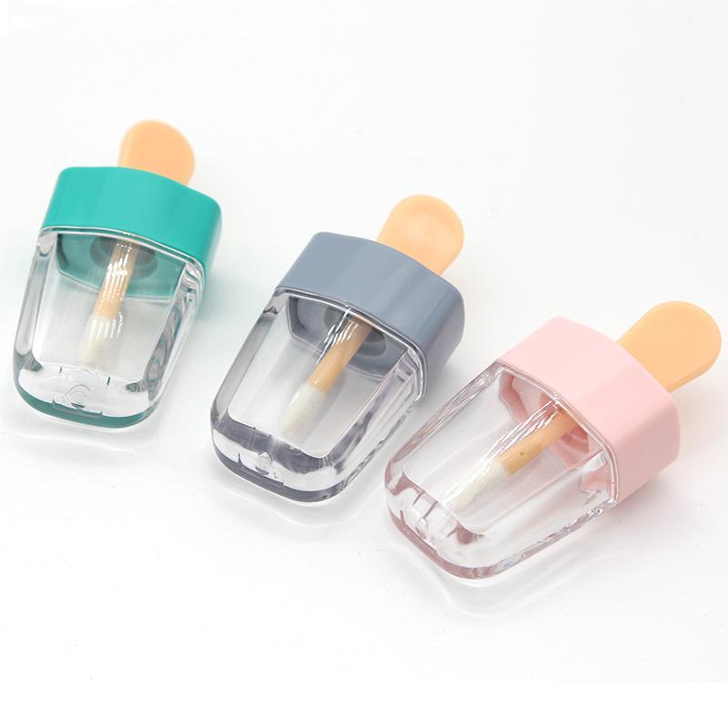 6 ml DIY leere Lippenglocke Flaschenbehälter Make-up-Werkzeug-Kosmetik-Eiscreme Klarlippen Balm-Röhrchen