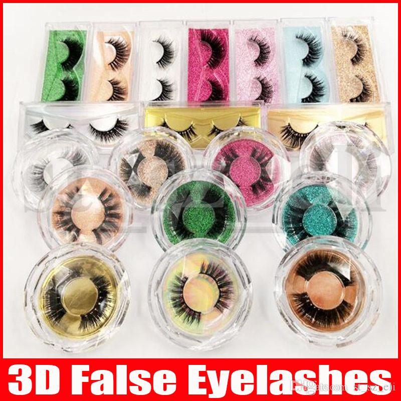 60 Styles 3D eyelash False Eyelashes Natural Long Fake Eyelash Extension Thick Cross Faux 3d Eyelashes Eye Makeup