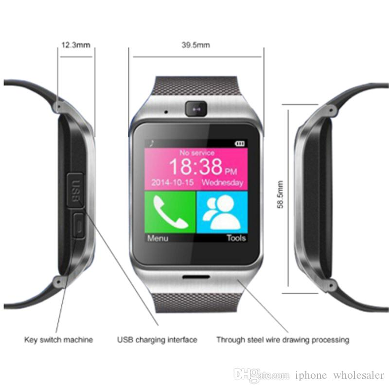 GV18 Smart Watch with Camera Bluetooth WristWatch SIM card Fitness Tracker Smart Bracelet for IOS Android Phone