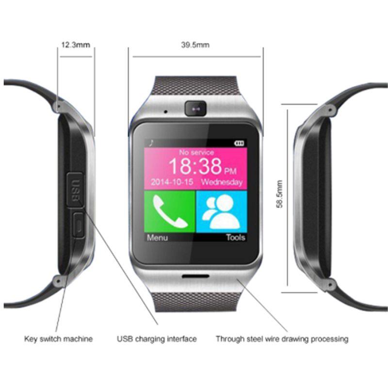 Gv18 Akıllı izle kamera ile Bluetooth kol SIM kart spor Izci Akıllı bilezik IOS Android telefon için