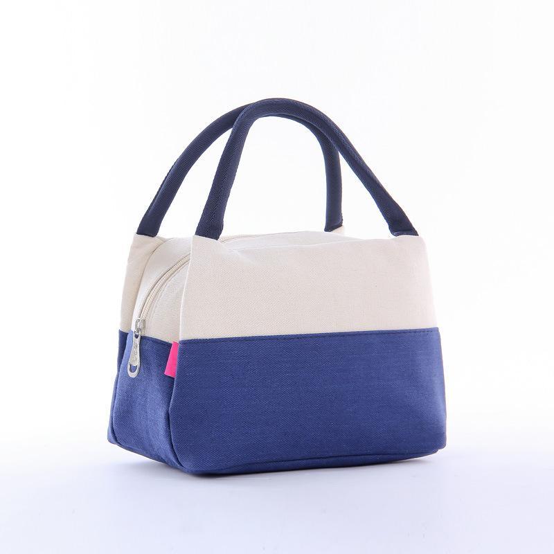 Mulheres portátil Saco do almoço Canvas caixa térmica bolsas térmicas piquenique caixa de sacos de crianças sacola # 15