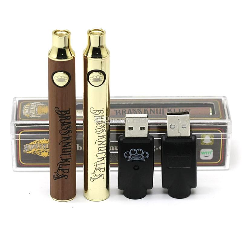 Legal das juntas de bronze Vape Battery 650mAh 900mAh variável Tensão Pré-aqueça o E-Cigarette Bateria 510 Thraed com carregador USB