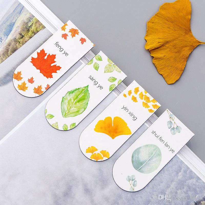 Pastoral style Magnet Bookmark Student Multi-function Handbook Tab Magnetic Bookmark students Stationery read book tab tool