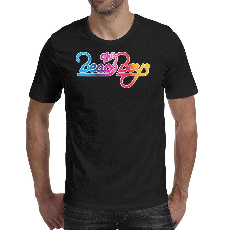 Moda Mens impressão A camisa Beach Boys t pretos engraçados impressionantes shirts American 1983 turnê Surfin EUA