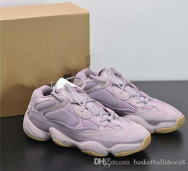 Plus récent Designer 500 Vision douce Chaussures de course Kanye West Violet coureur de vague Fashion Look Sport Sneaker