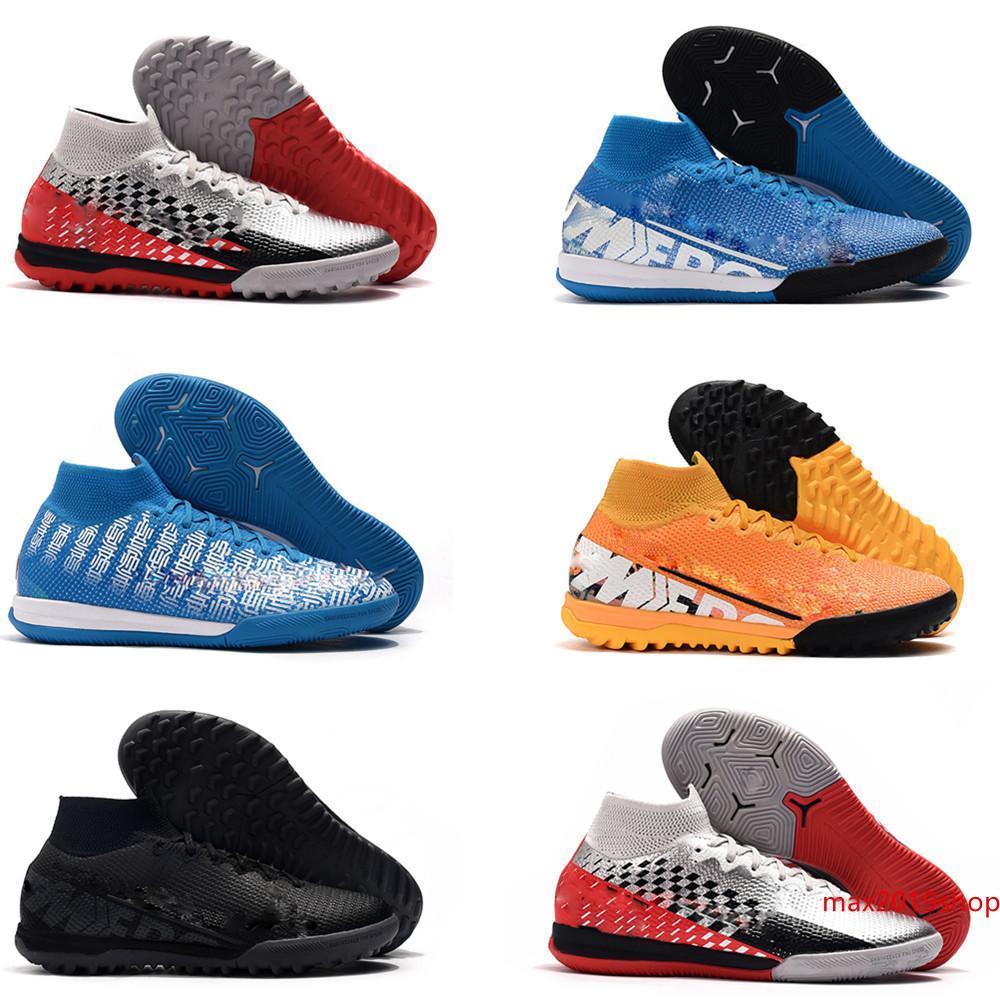 2019 أحدث أحذية الرجال لكرة القدم نيمار كرة القدم المرابط في الأماكن المغلقة زئبقي ال superfly 7 VII 360 النخبة IC TF العشب أحذية كرة القدم ارتفاع us6.5-11