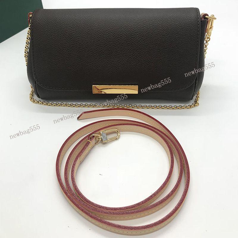 Kadınlar marka tasarımcı çanta Favori çanta gerçek deri Pochette omuz çantaları çanta kavramalar çıkarılabilir zincir kemer büyük hacimli m40718 rahat