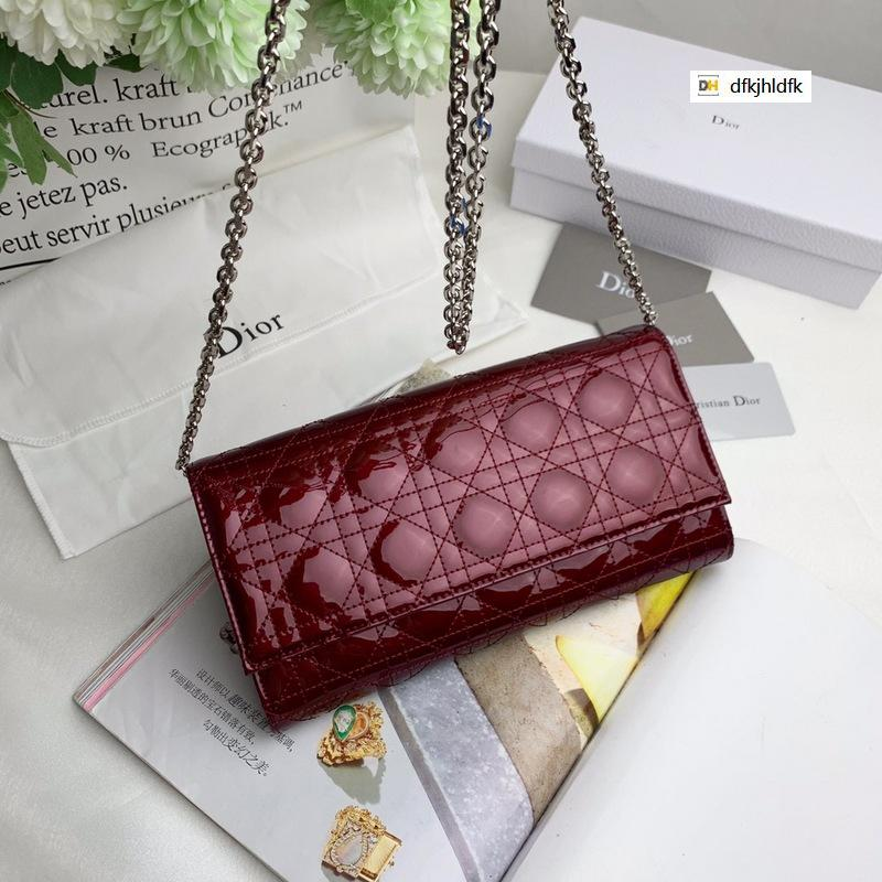 FY3X 138 simple style patent leather wine red WOMEN HANDBAGS ICONIC BAGS TOP HANDLES SHOULDER BAGS TOTES CROSS BODY BAG CLUTCHES EVENING