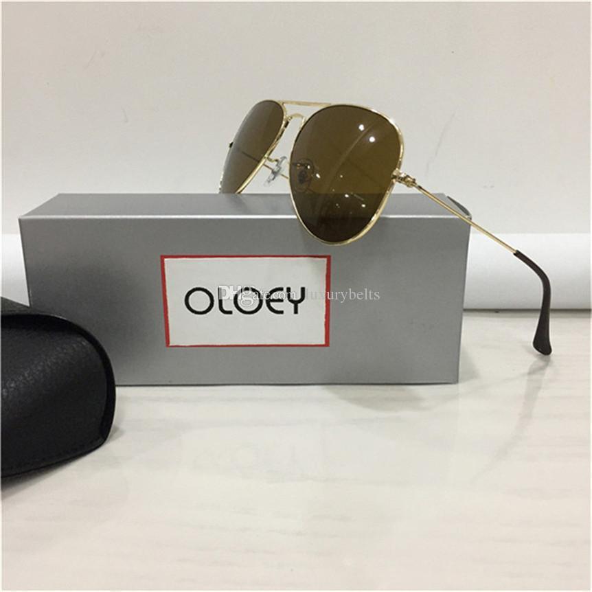 النظارات الشمسية الرجال النظارات الرجال النظارات الشمسية الإطار إمرأة نظارات شمس زجاج ردور كاملة ريم مكبرة الحجم 58-14mm مع صندوق 24 687