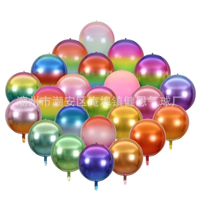 22 Inches Rainbow Balloons Gradient Color Aluminum Film Wrinkle Balloon For Birthday Wedding Party Decoration Supplies 1 8je E19