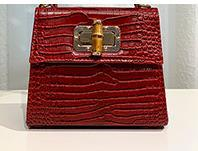 2020 New Designer Small Square Bag Luxury Handmade Bag Crocodile Pattern Ostrich Slub Hand Shoulder Diagonal Bag