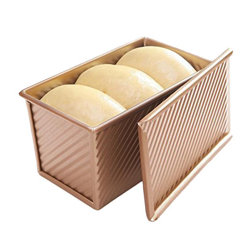 빵 토스트 금형 비 스틱 알루미늄 처리 로즈 골드 금속 19.5x10.3x11.3cm 주방 도구 베이킹 과자 제빵 도구