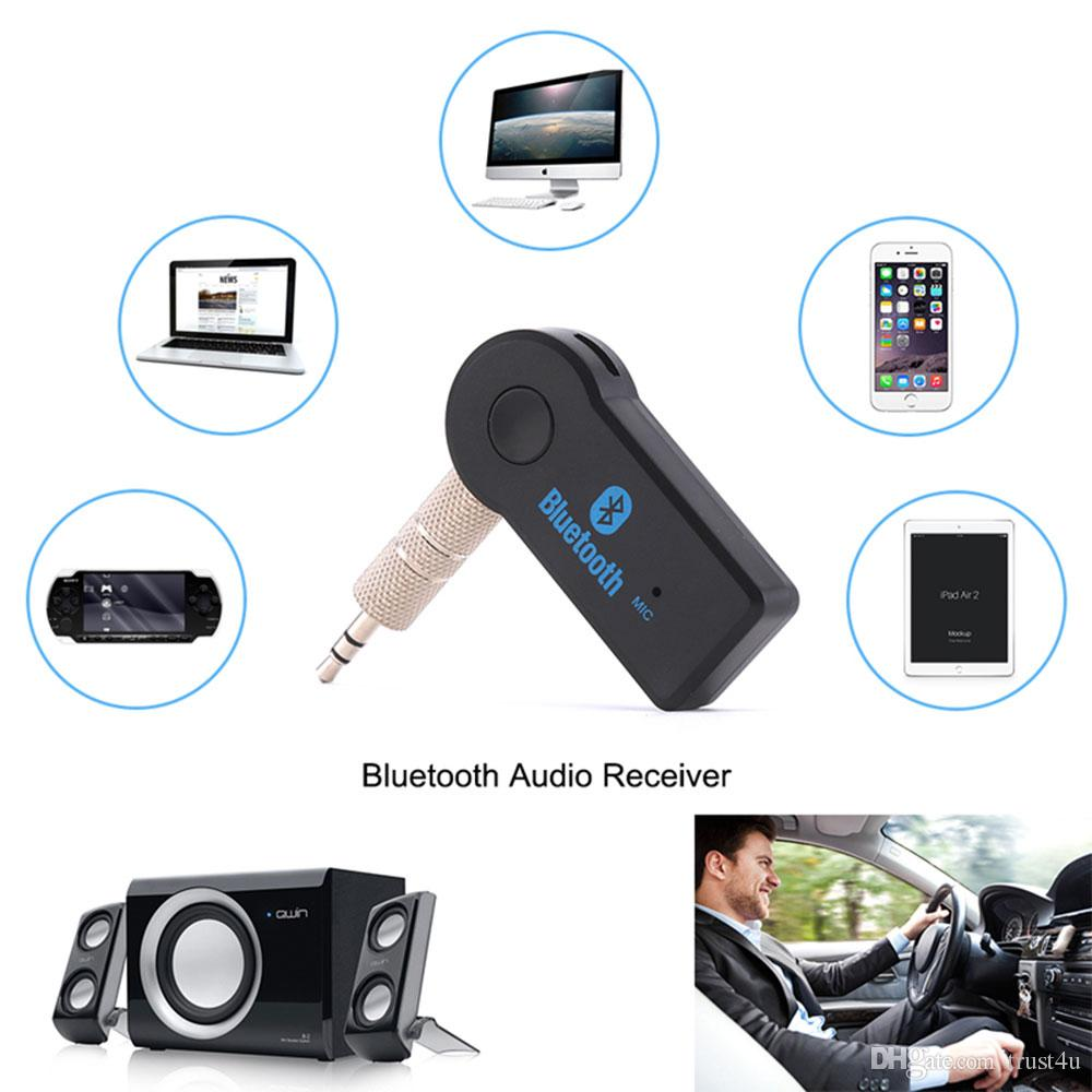 Stereo 3.5 Blutooth Senza fili Per auto Music Audio Adattatore per ricevitore Bluetooth Aux 3.5mm A2dp Per Ricevitore per cuffie Jack Vivavoce