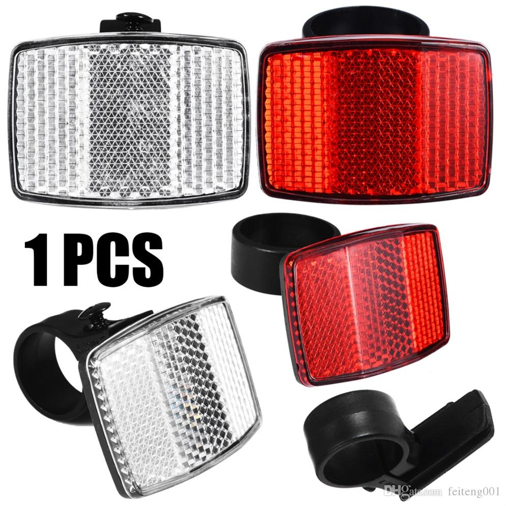 1Pc Bicycle Front Rear Reflector Road Bike Reflective Lens Bicycle Accessories\