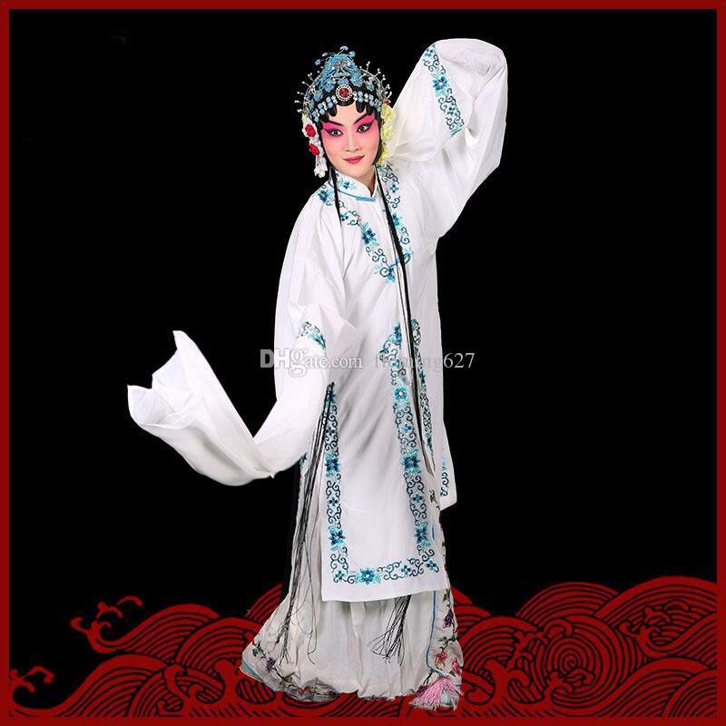 Traditional Chinese Beijing Opera Performances stage wear colorful Women's Classical Long Sleeve dance Costumes Cosplay drama dress