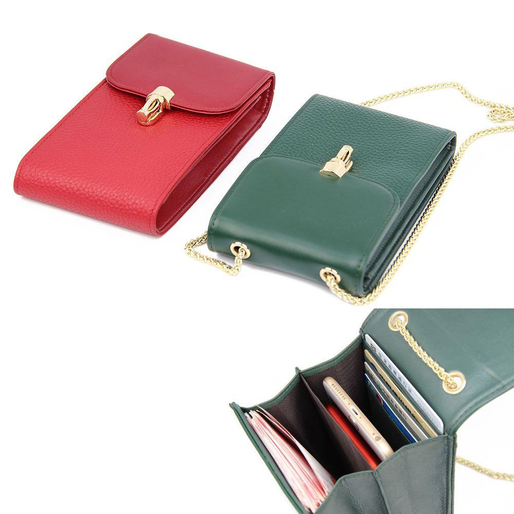 Sac en cuir véritable épaule Femmes Casual Wallet Designer en cuir de vache téléphone portable sac à main Porte-cartes de sacs de Crossbody Totes