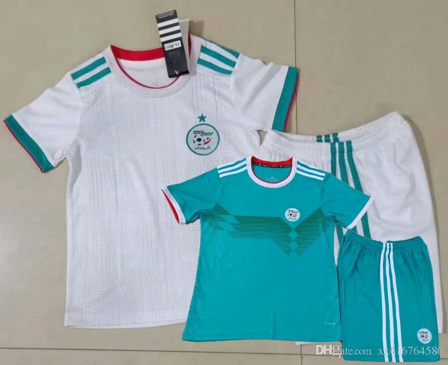 Acheter Enfants Enfants Algerie Domicile Football Maillot Vert 2019 2020 Algerie Maillot De Foot Garcons Football De 11 67 Du Xx416764580 Dhgate Com