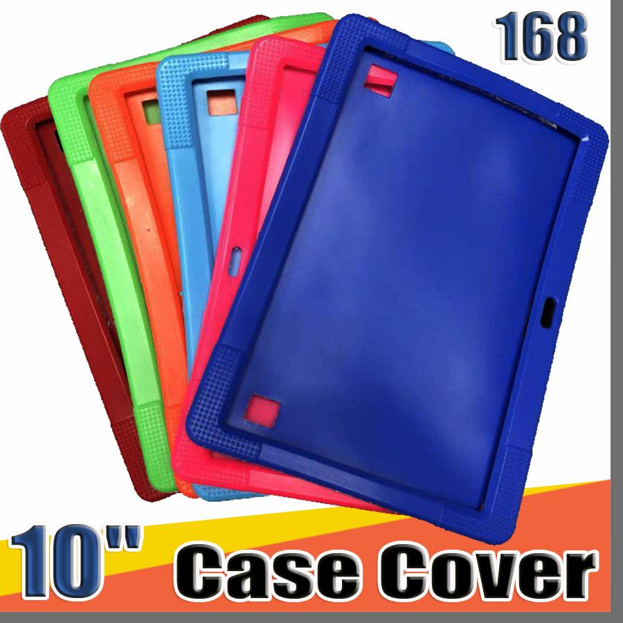"168 Cheapest 50pcs Anti Dust Kids Child Soft Silicone Rubber Gel Case Cover For 10"" 10.1 Inch A83T A33 A31S Android Tablet pc MID Free DHL"