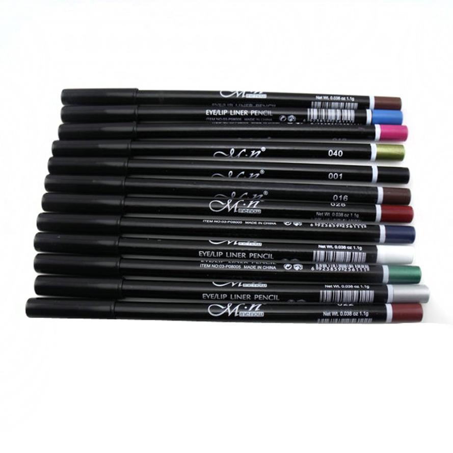 MENOW 12 ألوان قلم تحديد العيون قلم الحواجب بريق الظل مجموعة ماكياج التجميل كيت Freeshipping 5p921