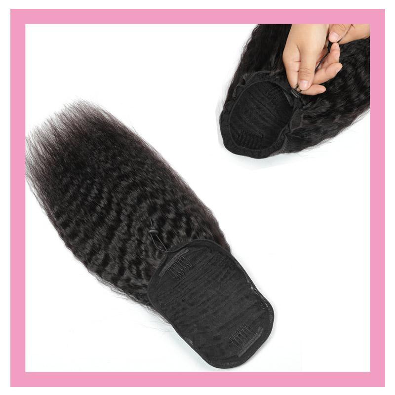 الهندي الخام العذراء الشعر البشري ذيل الحصان الشعر ملحقات الشعر 8-22 بوصة غريب مستقيم اللون الطبيعي ذيل الحصان بالجملة الشعر الهندي