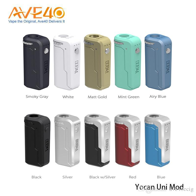 Original Yocan UNI Box Mod 510 Adapter with Built in 650mAh Battery for all Cartridge Atomizers