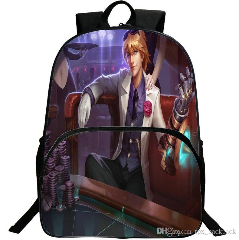 على ظهره Ezreal على ظهره الضخم اليوم حزمة Lol حقيبة مدرسية حقيبة الترفيه packsack جودة الظهر الرياضة المدرسية في الهواء الطلق daypack