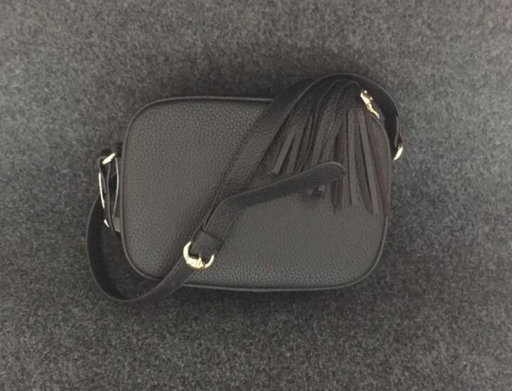 مصمم بيع الجلود سوهو حقيبة الكتف ديسكو حقيبة الكتف محفظة اللون أزياء فتاة الشرابة الصليب الجسم حقائب محفظة محفظة 88549 #