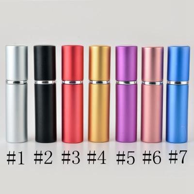 Perfume Garrafa 5ml Alumínio Anodizado Compacto Perfume AftersHave Atomizador Atomizador Fragrância De Glass Scent-Garrafa Mista Cor Mista EEE840