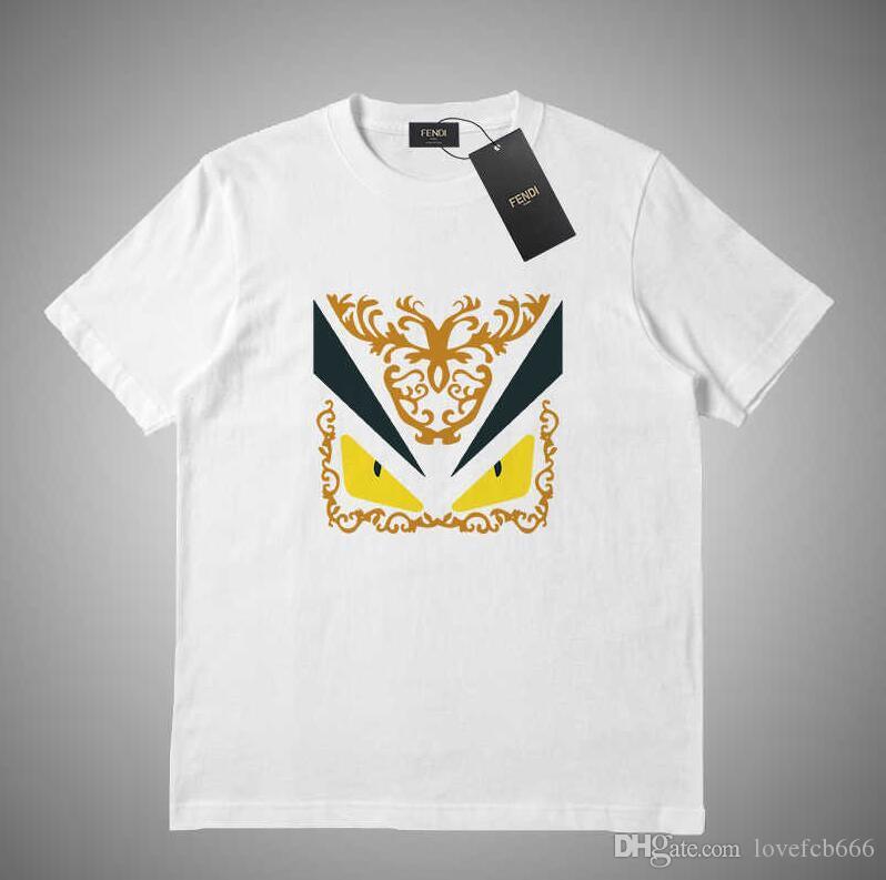 modo di alta qualità designer maglietta del bicchierino girocollo in cotone T-shirt a maniche corte da uomo abiti europei uomini di stile # 65152