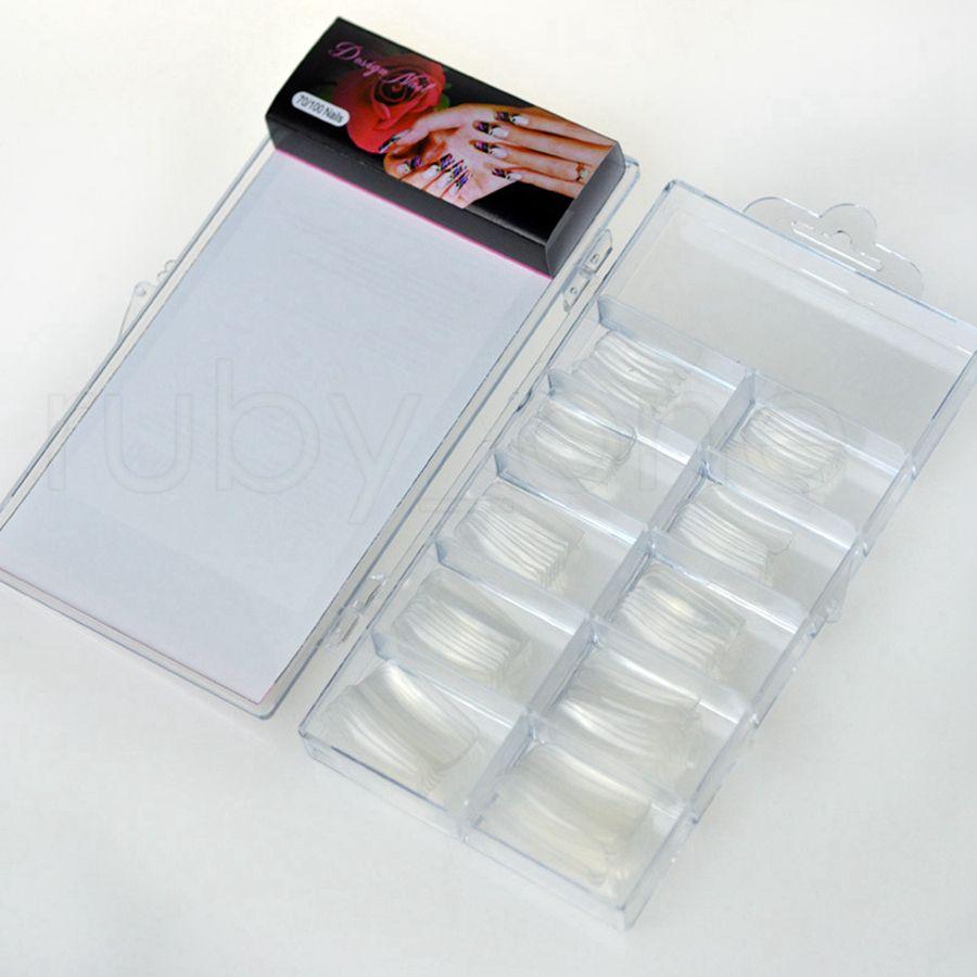 100шт Натуральный прозрачный французский накладные ногти акриловые УФ-гель для маникюра Искусственный Поддельный Nail Art Советы Finger Удлинитель Пластиковые окна RRA2184