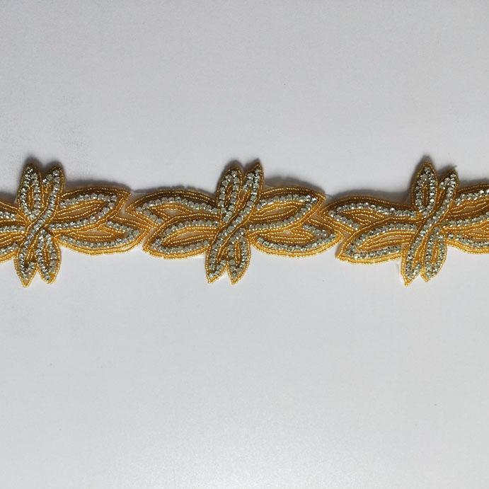 5 Yards/Lot Graceful Flower Rhinestone Crystal Chain Trim Silver Gold Applique Bridal Sewing on Wedding Dress Decoration