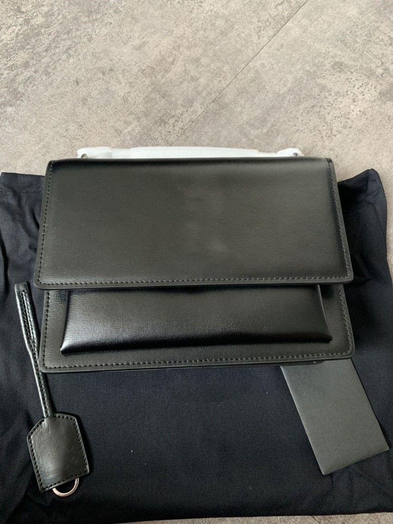 Дизайнер роскошные сумки SUNSET монограмма женщин сумки неподдельной кожи плеча мешки с длинной цепью ремни лоскут сумка с кожаным кольцом для ключей