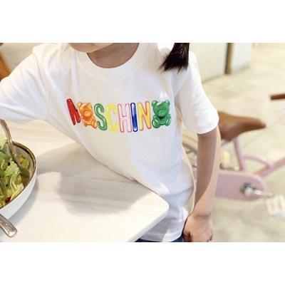 Erkekler ve Kızlar Tasarımcı T-shirt Çocuk Marka Moda Kız Harf ve Ayı Kısa Gömlek 2020 Yaz Yeni Stil Toptan yazdır Tops
