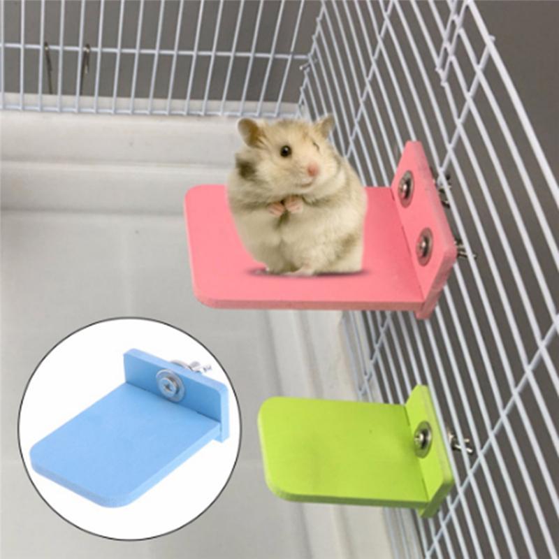Petit hamster Conseil écologique Plate-forme Support rack Jouet rectangulaire cage d'écureuil Accessoires colorés Pet Supplies