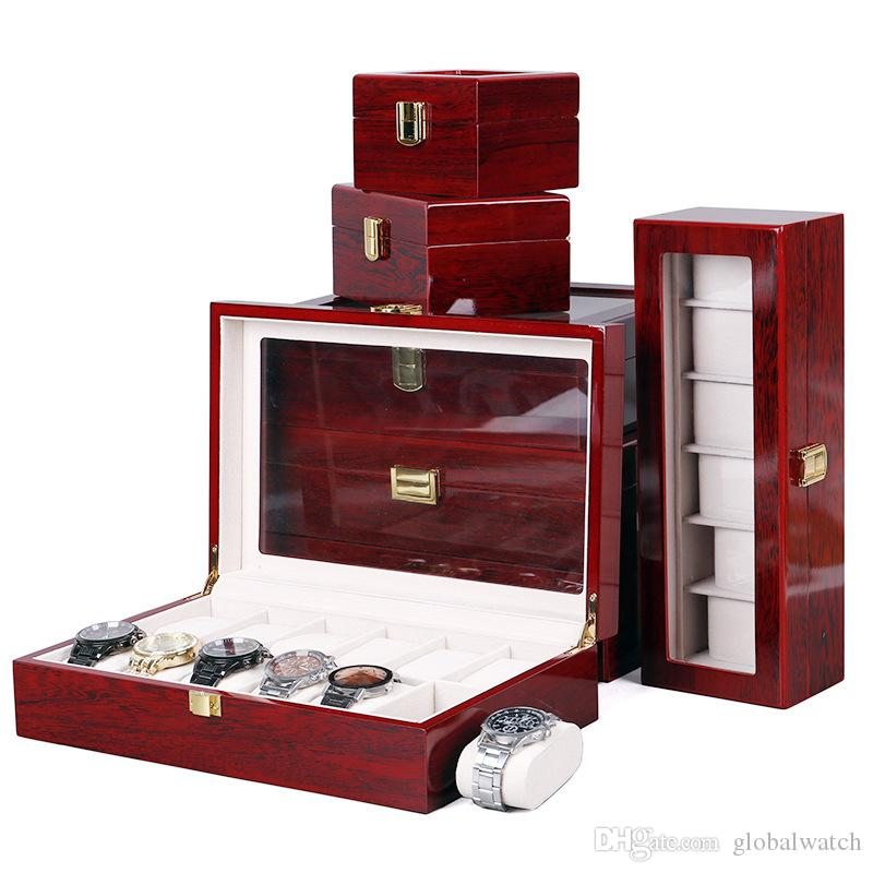 Luxury Watch Storage Box Jewelry Storage Display Packaging Box High-End Watch Gift Solid Wood Box Free Shipping