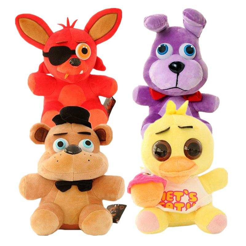 25cm Five Nights At Freddy's FNAF Plush Doll Freddy Bear Foxy Chica Bonnie stuffed Plush Toys Kid Children Dolls Kids Gift