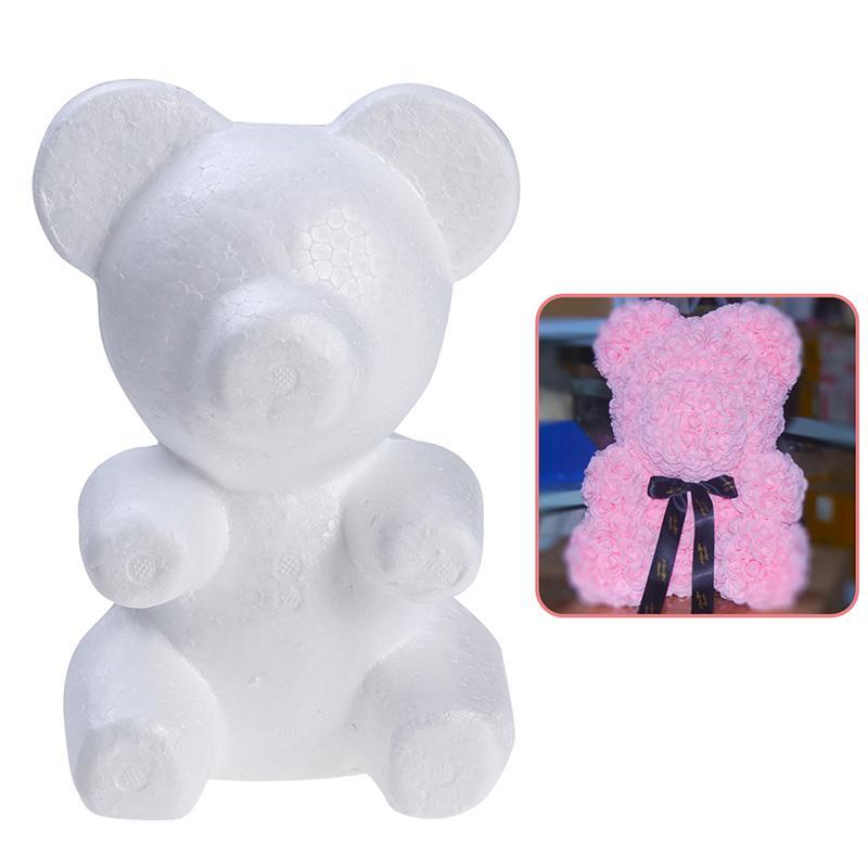 Home & Garden 1 pcs 200mm Modelling Polystyrene Styrofoam Foam bear White Craft Balls For DIY Christmas Party Decoration Supplies Gifts