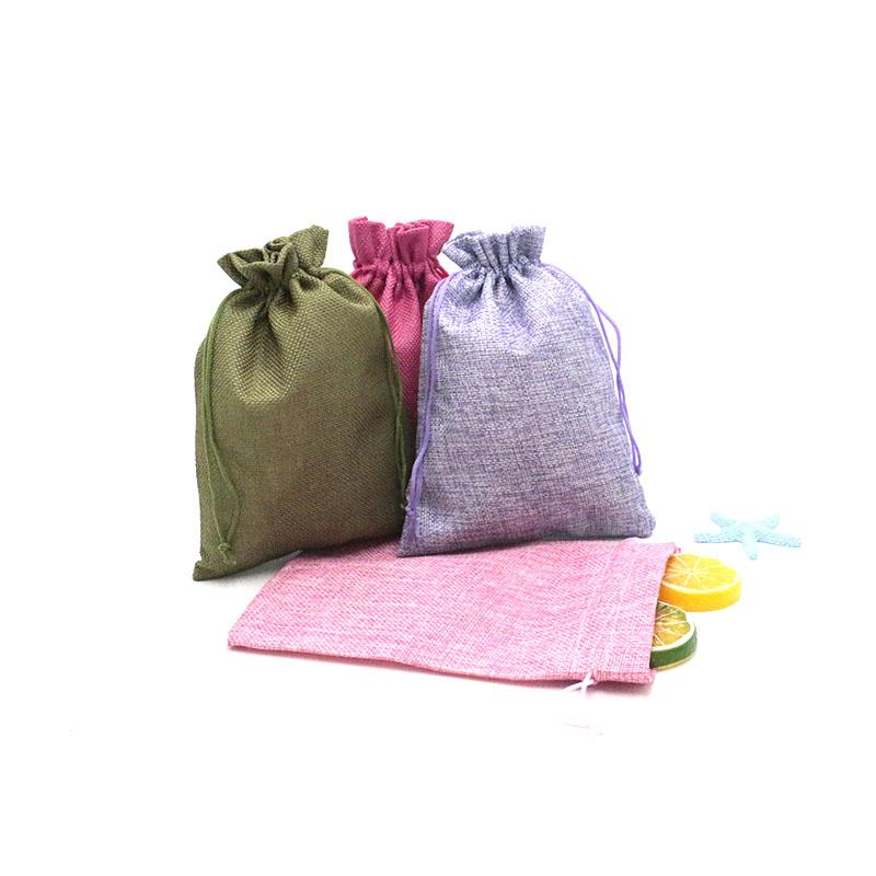 100pcs 15x20cm Cheap Mini Burlap Jute Drawstring Gift Jewelry Pouches Bags for Wedding Favors Christmas Rustic Can be Customized